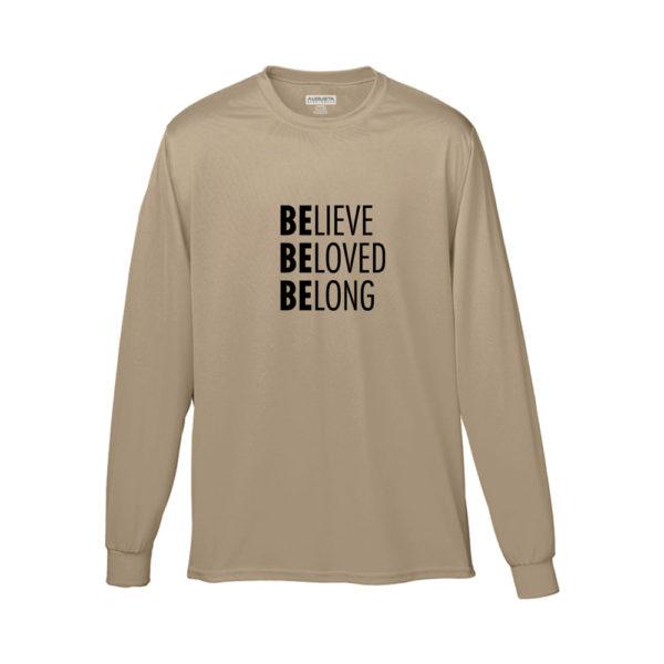 Believe Beloved Belong Shirt (Beige Long Sleeve)